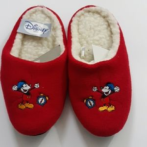 The Disney Store Girls Mickey Mouse Clock Slippers
